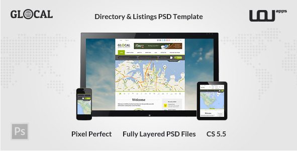 GLOCAL - Directory PSD Template