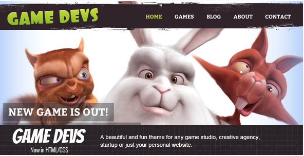 Game Devs HTML Gaming HTML Website Templates