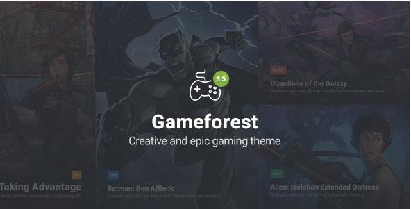 Gameforest - Gaming Theme HTML