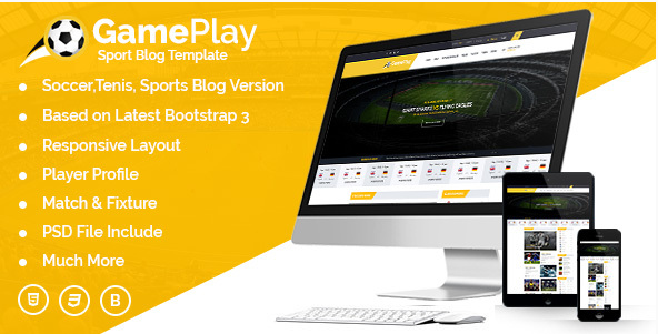 Gameplay Sports Club Blog And Magazine HTML Template