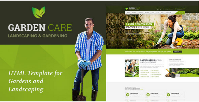 Garden Care - Gardening and Landscaping HTML Template