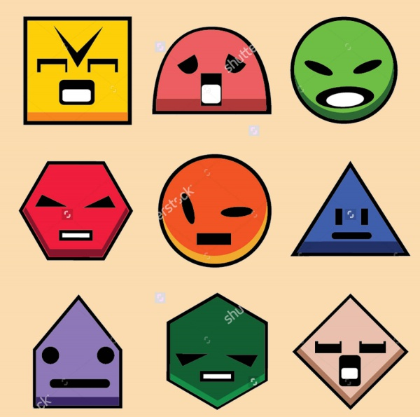 Geometry-Shapes-2D-With-Faces