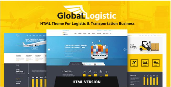 Global Logistics - Transportation HTML Template