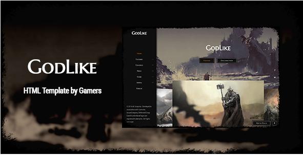 GodLike Gaming HTML Website Templates