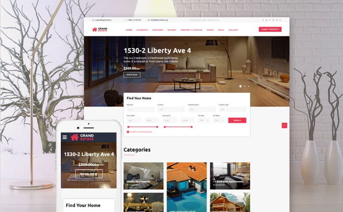 Grand Estate Website Template
