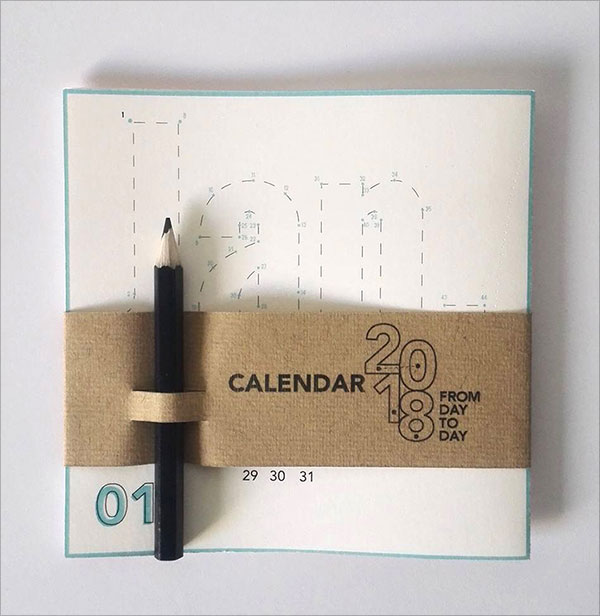 Graphic Design Calendar 2018