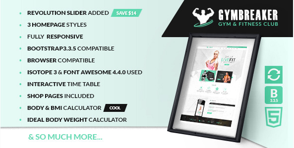 Gym Breaker - Fitness & Gym html template