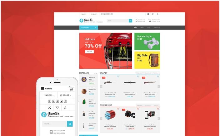 GymBo - Responsive multipurpose OpenCart template + RTL