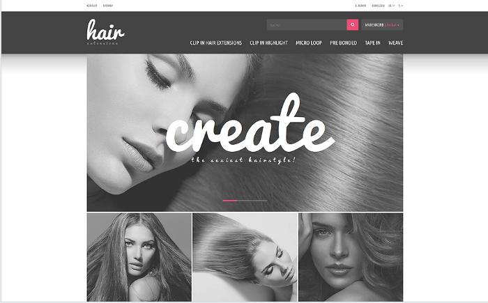 Hair Extensions Store PrestaShop Theme