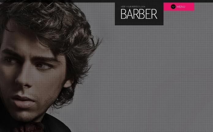 Hair Salon PSD Template