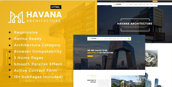 Havana - Interior Design HTML Website Templates