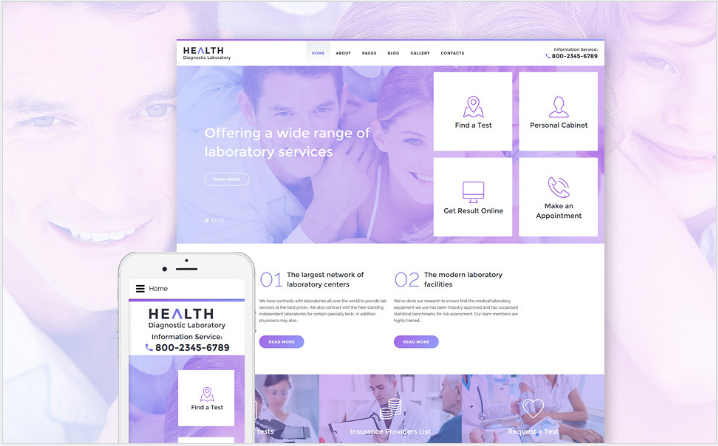Health Diagnostic Laboratory Joomla Template
