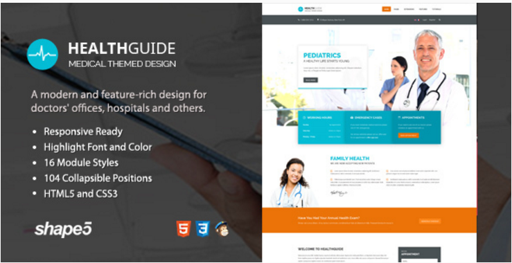 Health Guide - Responsive Medical and Doctor Template