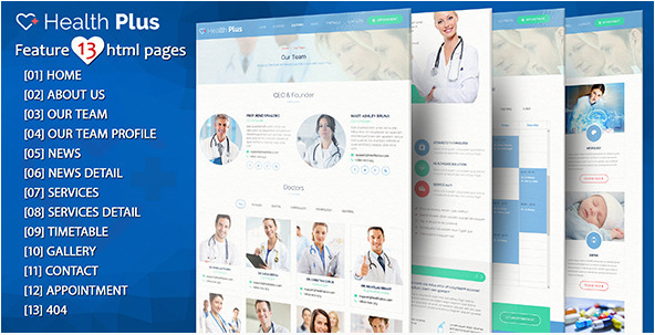 Health Plus – Health & Clinic HTML Template