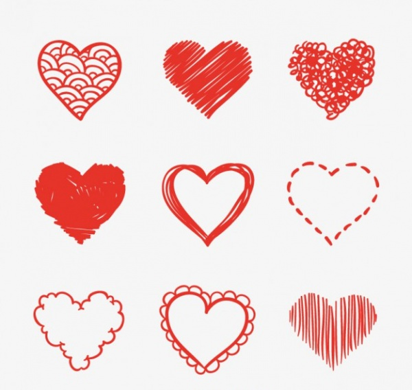 Heart-Shaped-Sketches-Set