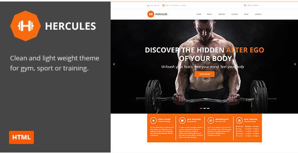 Hercules Gym Fitness HTML Theme