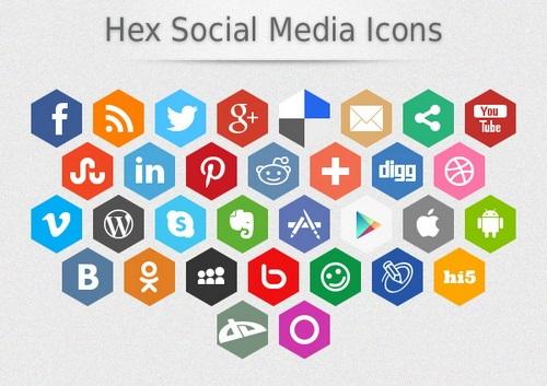 Hex-Social-Media-Icons