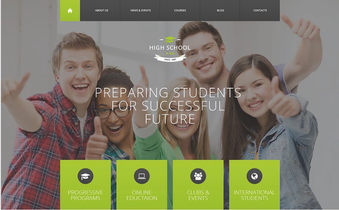 High School PSD Template