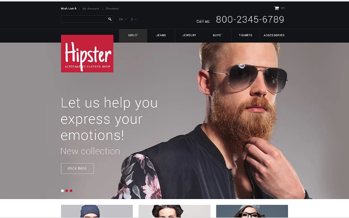 Hipster OpenCart Template