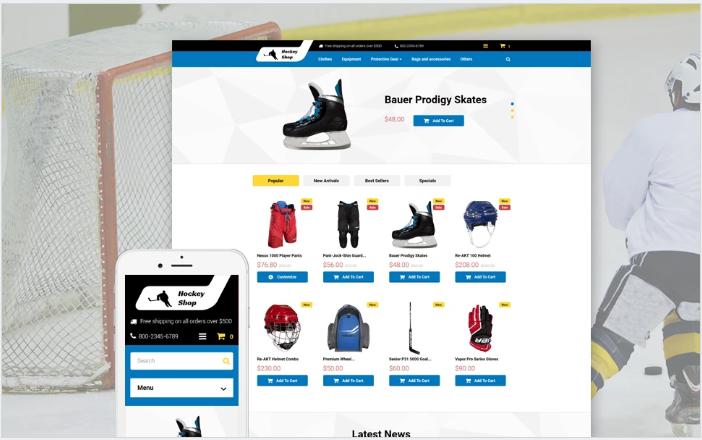 Hockey Shop PrestaShop Theme