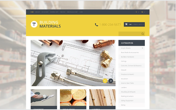 Home Repairs Responsive OpenCart Template