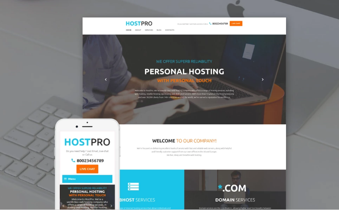 HostPro Website Template