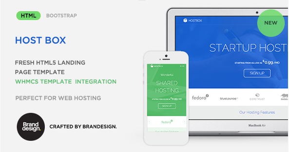 Hostbox - HTML5 Landing Page Template