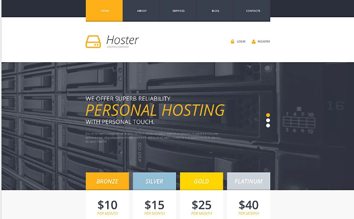Best Hosting HTML Website Templates