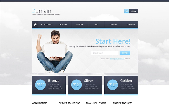 Hosting Responsive Website Template