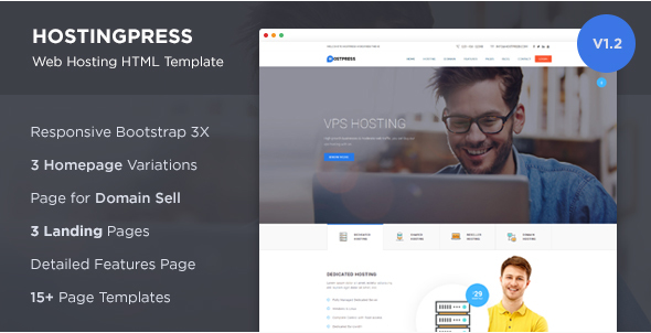 HostingPress - Web Hosting HTML Template