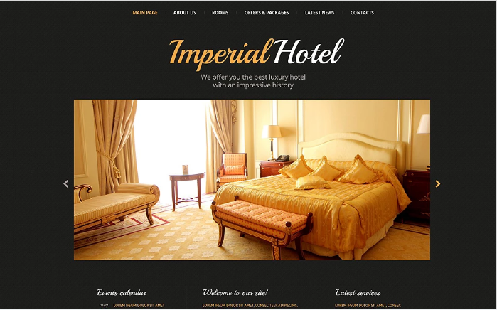 Hotel Accommodation Website Template