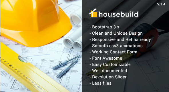 Housebuild - HTML Construction Business Template