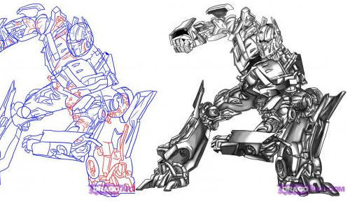 How to Draw Optimus Prime From Transformers