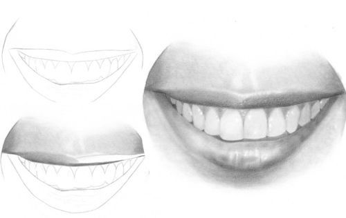 How to Draw a mouth and teeth
