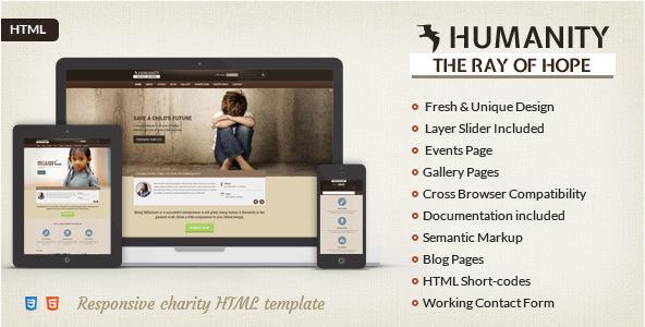 Humanity NGO & Charity HTML Template