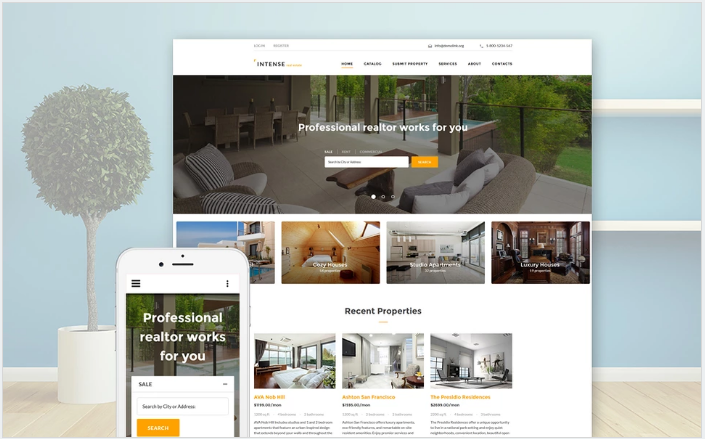 INTENSE Real Estate Website Template