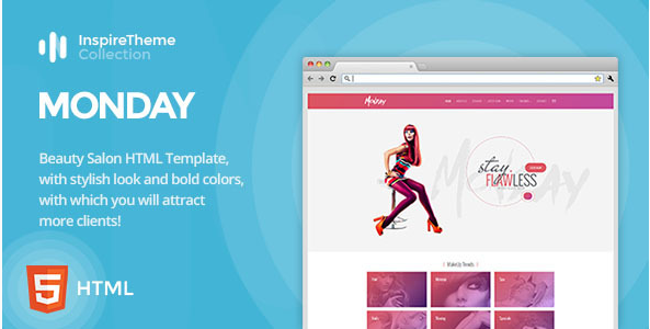 IT Monday - Professional HTML Template for Hair and Beauty Salon, Fashion, Spa, Spray Tan