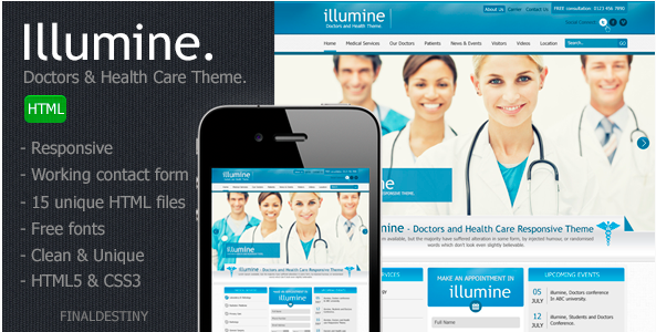 Illumine – Doctors & Health Care HTML template