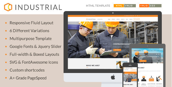 Industrial - Architects & Engineers HTML5 Template