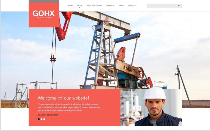 Industrial Business Website Template