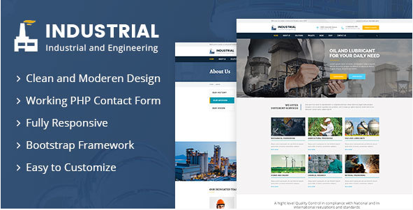 Industrial - Industrial And Engineering HTML Template
