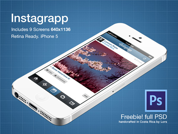 Best Free Instagram PSD Templates