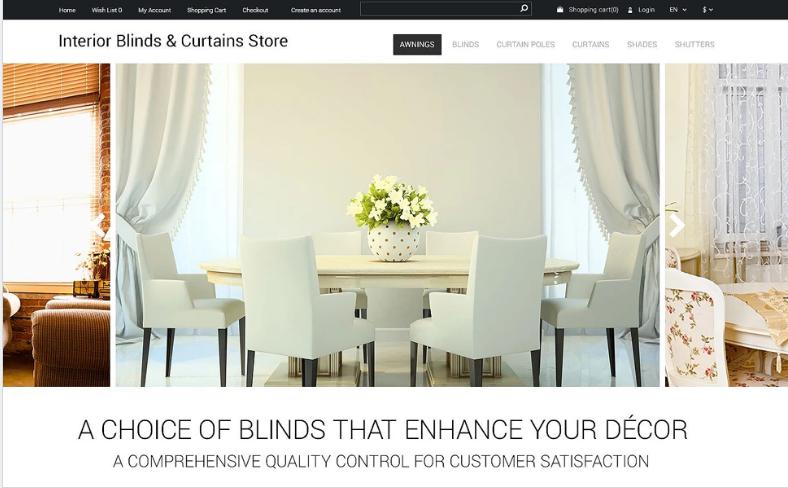 Interior Design OpenCart Template