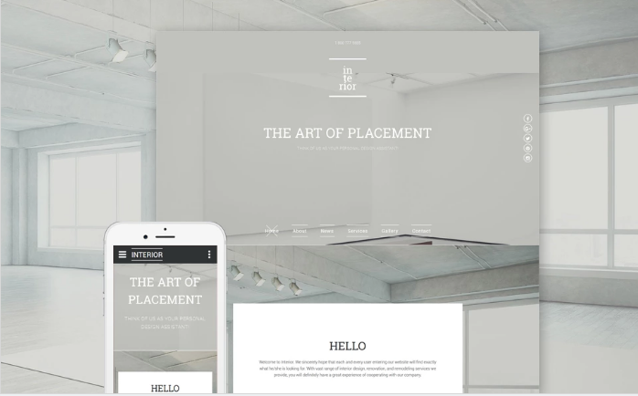 Interior & Furniture Responsive Website Template
