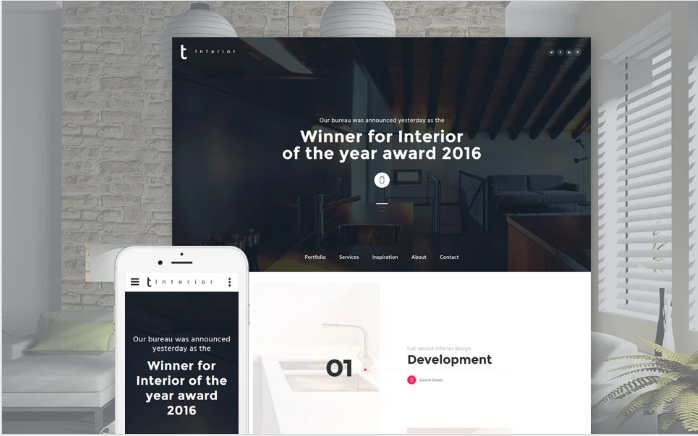 Interior Furniture Website Template