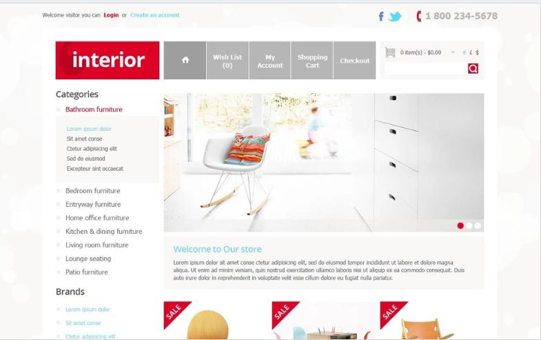 Interior Store OpenCart Template