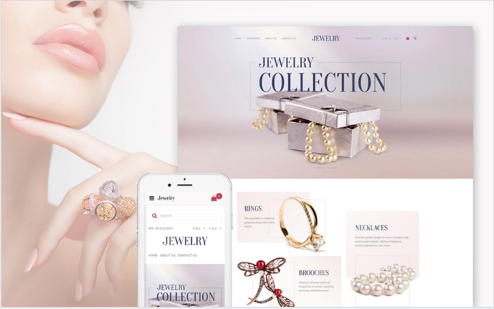 Jewelry Collection - Fashion Jewelry OpenCart Template + RTL