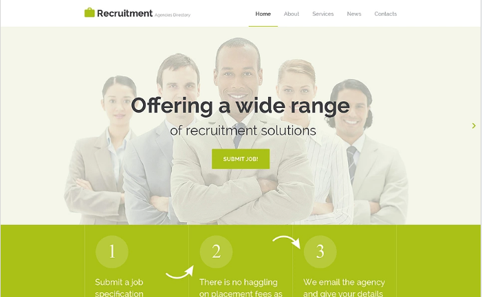 Job Portal Responsive Website Template