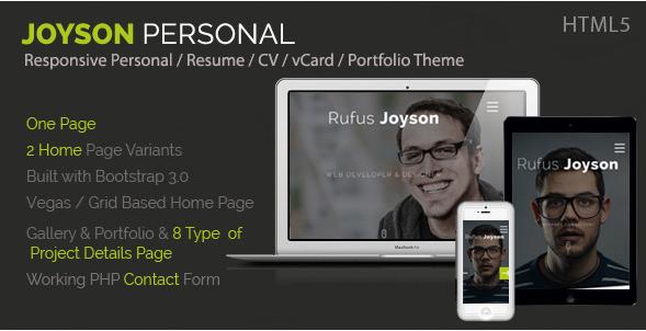 Joyson Personal - Resume