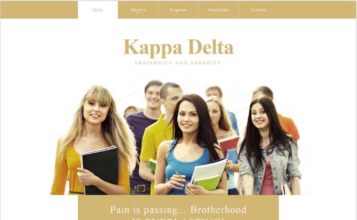 Kappa Delta Website Template